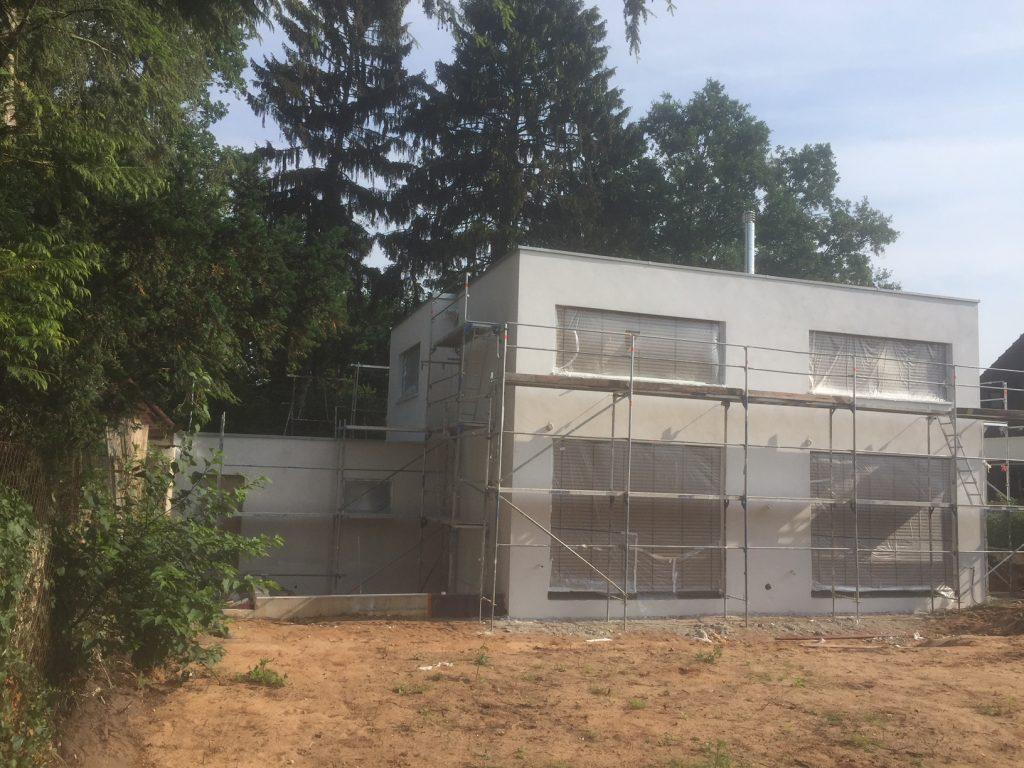 Einfamilienhaus Bauphase