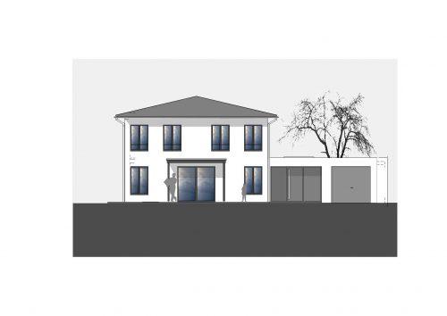 Frontansicht Einfamilienhaus